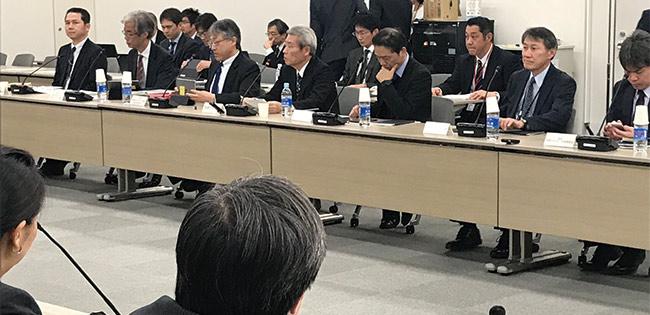 昨年に現状維持の方針が決まったエネルギー基本計画の政府の有識者会議。計画達成は困難になっている  Phot