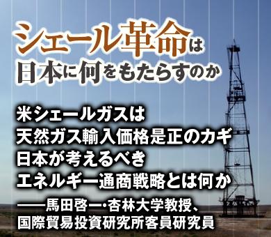 米シェールガスは天然ガス輸入価格是正のカギ 日本が考えるべきエネルギー通商戦略とは何か――馬田啓一・杏林大学教授、国際貿易投資研究所客員研究員