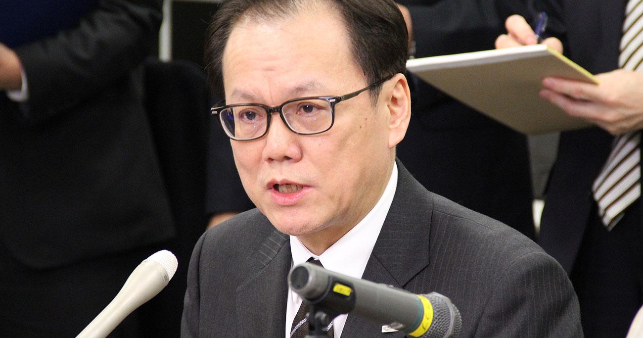 3月6日、みずほフィナンシャルグループの坂井辰史社長が、報道陣に対して業績予想を修正した理由を説明した