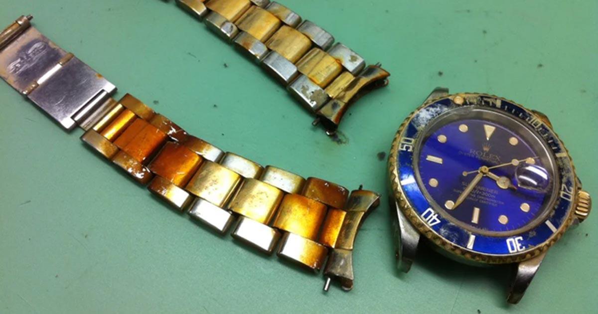ロレックス腕時計を海で紛失!水深100メートルからの救出劇