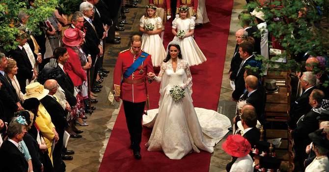 英国のウィリアム王子とキャサ リン妃の結婚式
