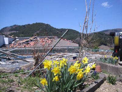 筆者の叔母の家があった場所で震災から3週間目に撮影した写真