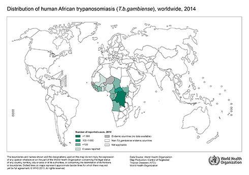 顧みられない熱帯病の流行地域
