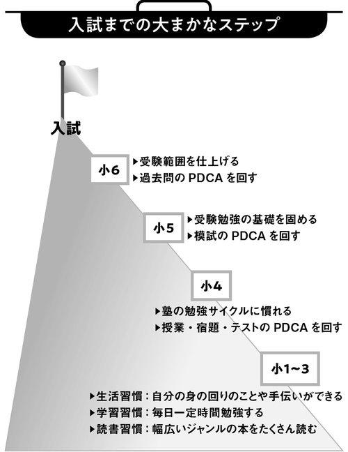 図表:入試までの大まかなステップ