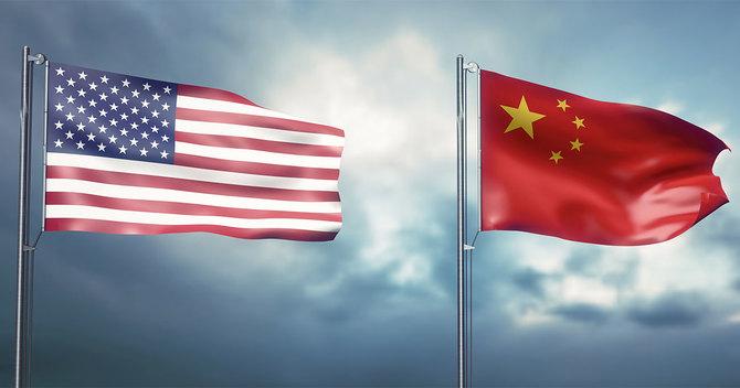 米中の国旗