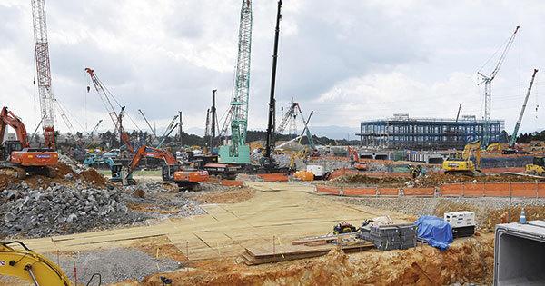 東芝メモリが建設を開始した新たなフラッシュメモリー製造拠点の北上工場