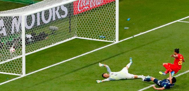 日本代表がベルギー代表から勝ち越しゴールを決められた瞬間