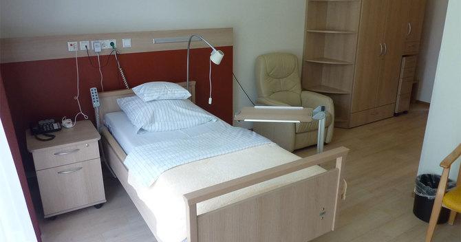 「聖フランシスコ・ホスピス」の居室ベッド