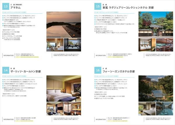 「FINE HOTELS & RESORTS」の対象ホテル