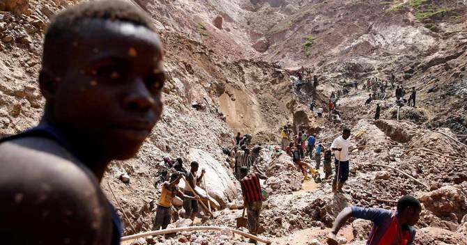 コンゴ東部ルバヤのSMB所有の鉱山で