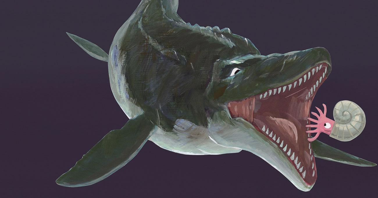 """絶滅は、大人に染みる。「毒の海で絶滅」した""""最強ハンター""""モササウルス"""