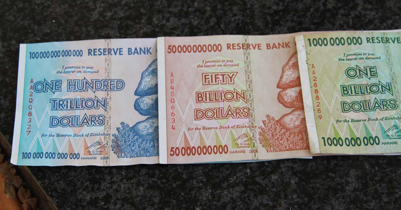 前月比796億%のインフレを経験したジンバブエで悲劇再来