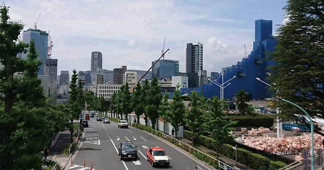 東京都渋谷区の建設工事現場