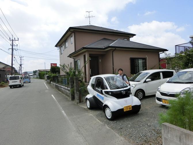 熊本県とホンダの超小型モビリティ実証の風景。福祉施設からの訪問介護用として活用するも、高齢者自身の移動としては想定せず