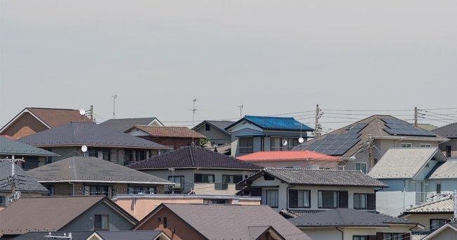 住宅街の屋根