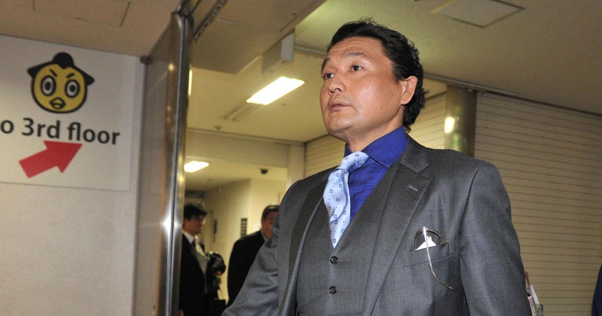 報道陣の取材にも無言を貫く貴乃花親方 Photo:日刊スポーツ/アフロ