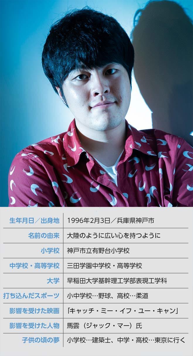 いちから代表取締役社長CEO 田角 陸氏