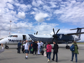 オーロラ航空のプロペラ機