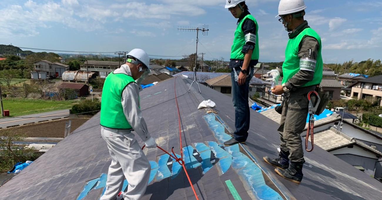 台風被害のブルーシート張りボランティアに、スタートアップ企業が赤字覚悟で乗り出す理由