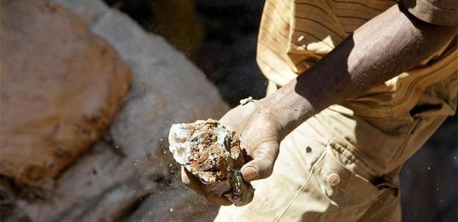 南部ルアラバで採掘されたコバルト