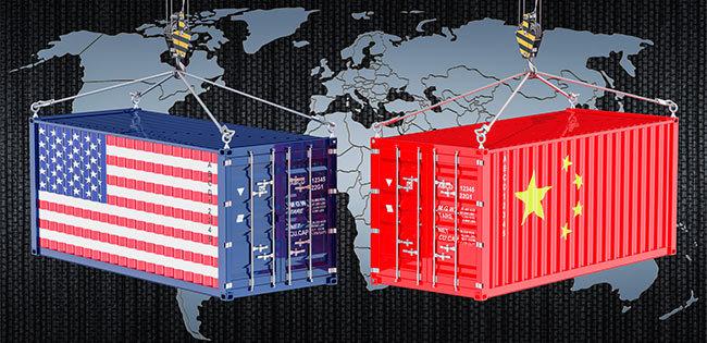 アメリカと中国のコンテナー