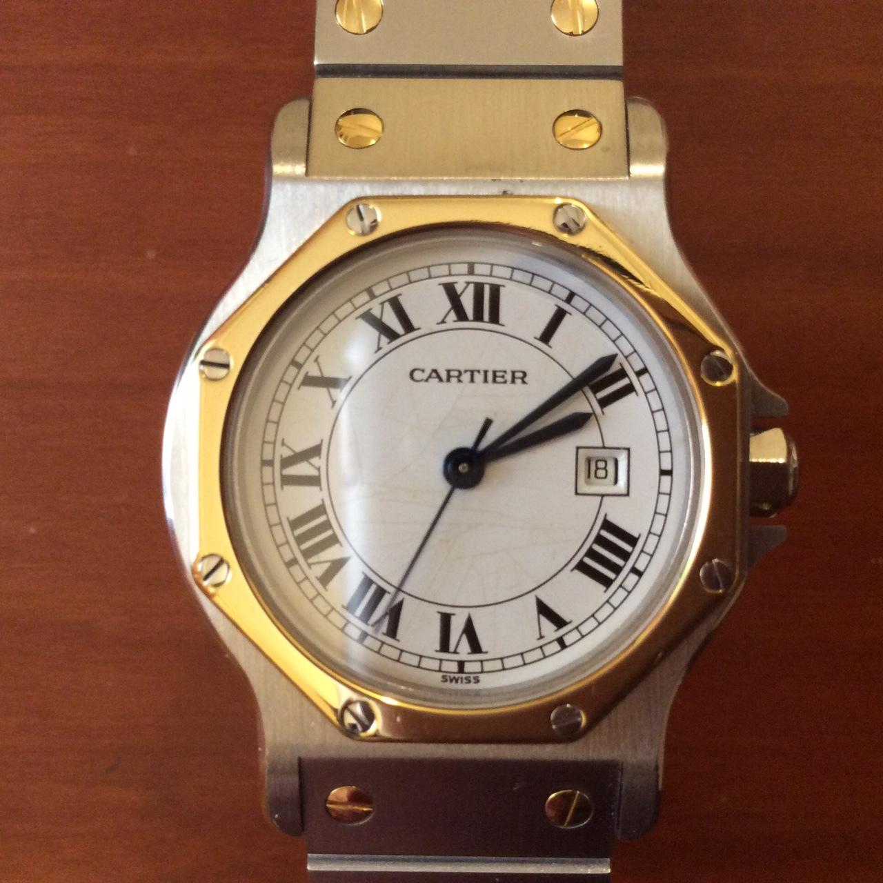 1dd937692c カルティエ」の高級時計「サントス」の中古品を定価の8割引で入手して ...