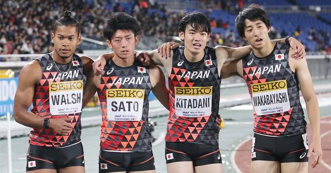 男子1600メートルリレー,日本
