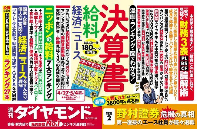 週刊ダイヤモンド4/27・5/4合併号中吊り広告