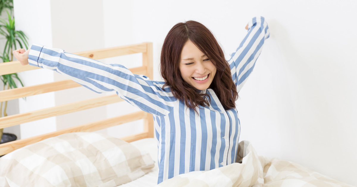 朝起きた時、「今日も1日、いい日にするぞ!」と言ってみる