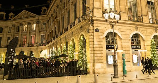 「ゼニス」 パリにポップアップ・ストアをオープンヴァンドーム広場がより華やかに