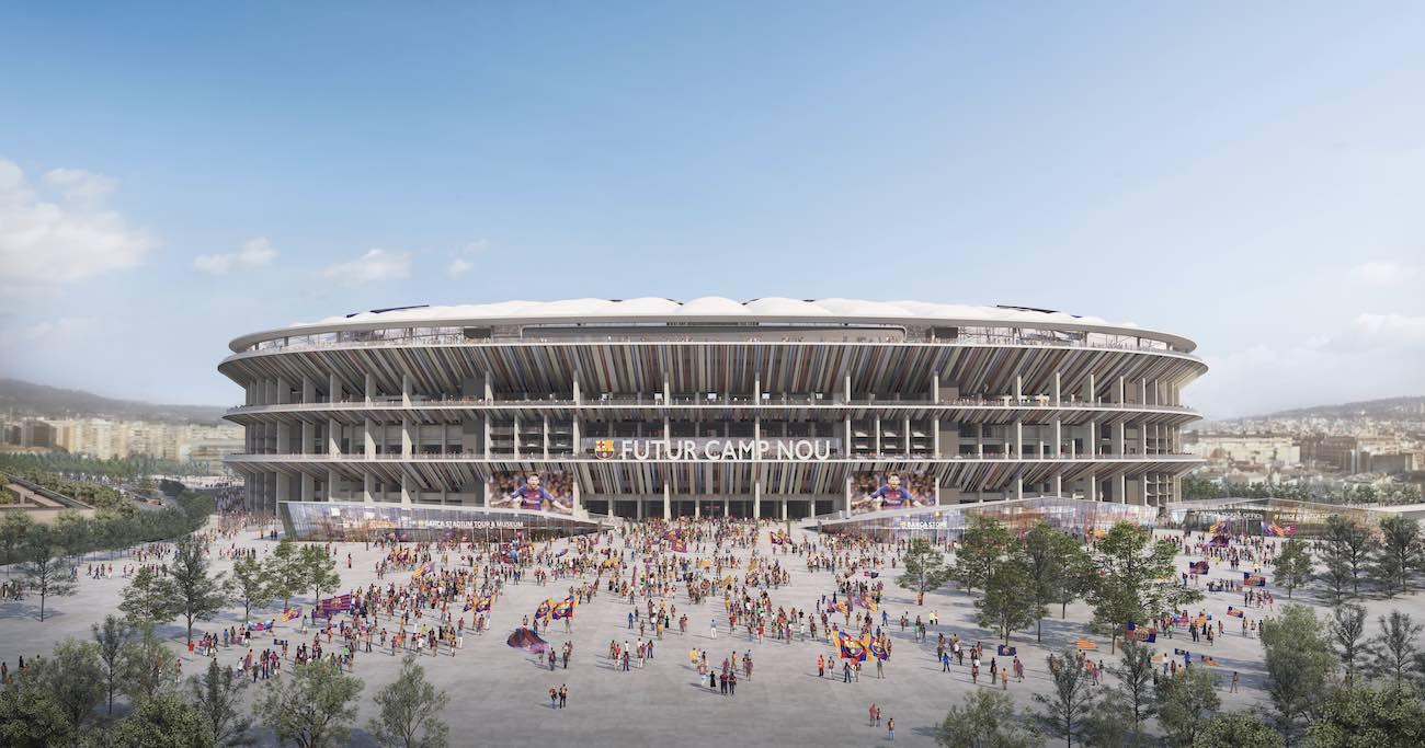 スペイン・バルセロナの「カンプ・ノウ」スタジアムの完成イメージ図 提供:日建設計