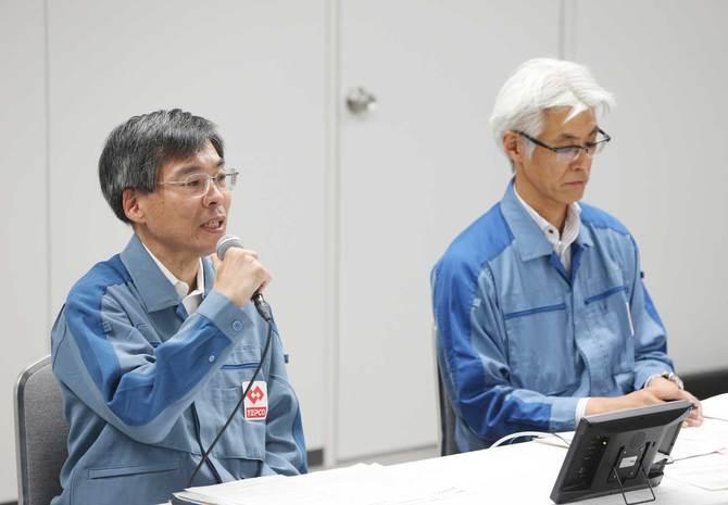 復旧について記者会見する東京電力パワーグリッド関係者