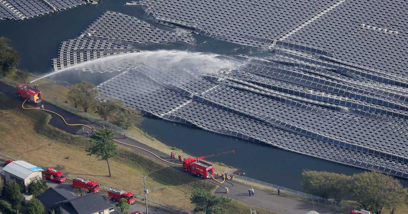 世界でも突出して多い日本の水上太陽光発電の課題が浮き彫りに Photo:JIJI